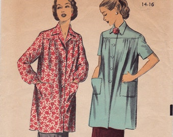 """FF 1950's Woman's Smock Vintage Sewing Pattern - Advance 5923 - Size 14 16, Bust 32-34"""", Patch Pocket UNUSED"""
