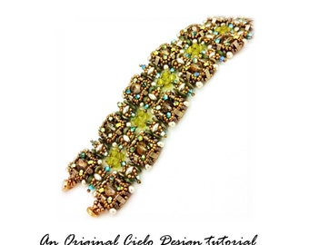 Double Crystal Pillow Bracelet Tutorial PDF