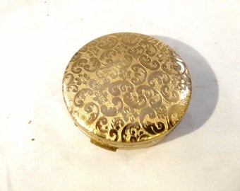 Luzier Gold Tone Compact with Mirror