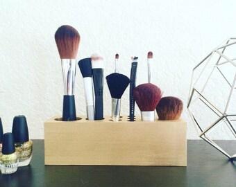 Makeup Brush Organizer - 10 Hole Medium Size - 30+ Colors Available
