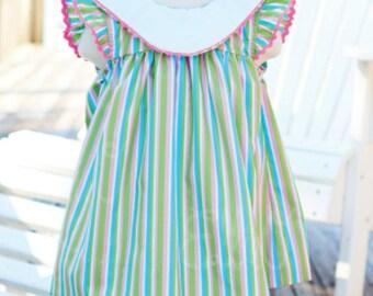 Girls Monogram Dress/ Easter Dress/Spring Dress/ Sunday Dress