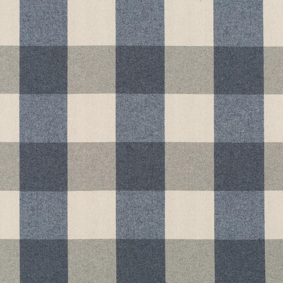 Navy Blue Plaid Wool Upholstery Fabric Modern by PopDecorFabrics