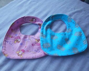 Fairy & Princess BABY BIBS with Velcro Fastner