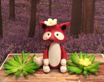 polymer clay woodland cake topper,birthday party,cake topper,children's party,squirrels, woodland animals