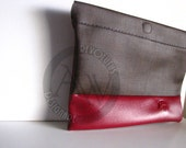 Clutch, Raw, Minimal, tablet clutch, accessory clutch bag, magnet
