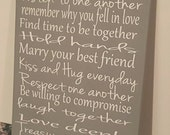 Marriage Rules.. Personalized Just for You.. Solid Wood Sign