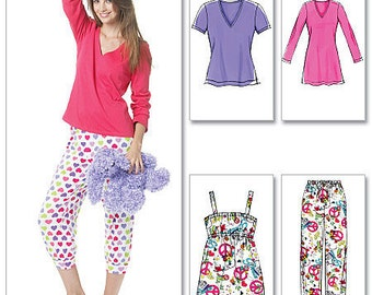 UNCUT Misses' Pajamas Pants and Shirt Pattern McCall's 6250 Size 8-10-12-14-16