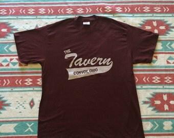 Vintage The Tavern Convoy Ohio Baseball T-Shirt