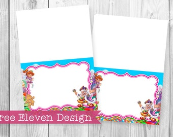 Candyland PRINTABLE Food Labels