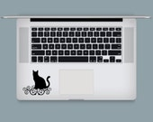 Fancy Cat Computer Keyboard or Cover Decal / DIY Decal / Car Decal / Tumbler Decal