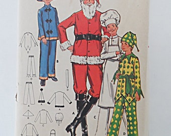 Vintage Costumes ~.~ Chinese ~Chef~Jester & Santa ~ Mens and Boys