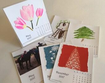 2017 DIY Create Your Own Desktop Desk Calendar PDF Christmas Gift Printable Download