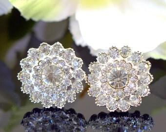 Crystal Bridal Earrings Rhinestone Earrings Wedding Earrings Chandelier Earrings Art Deco Jewelry Swarovski Pearl Dangle Earrings CELINA