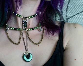 Steampunk Witch choker One of a Kind