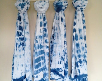 Lace Trimmed Crinkled Cotton Scarf