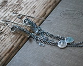 Long Chain Earrings with Swarovski Crystal Sterling Silver Luxe Handmade Jewelry Letemendia