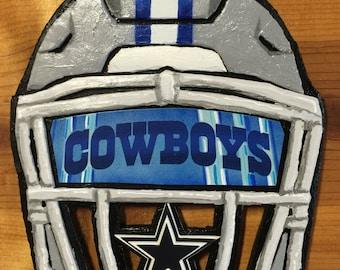 Dallas Cowboys Helmet Sculpture