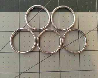 Split Ring x5 for Keyring Keychain 30mm