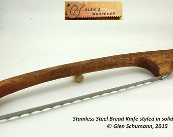 Bread Knife Stainless Steel Mahogany