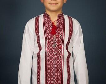 Vyshyvanka, Children embroidery. Ukrainian shirt for babies. Folk shirt for boys. Ethnic shirt for boys Ukrainian Children's clothing
