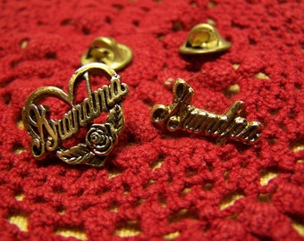 Grandma Brass Lapel Pin or Brooch