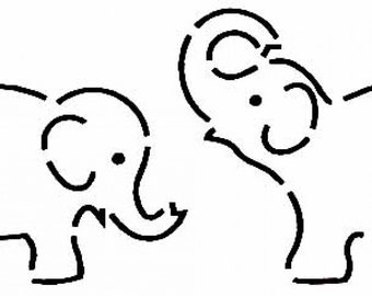 Elephant stencil etsy for How to carve an elephant on a pumpkin