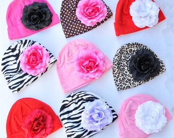 Baby Hat Flower Hats for Newborn Baby Toddler You Choose Colors