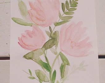 Bloom (Piece 2)---8x10 Watercolor Painting