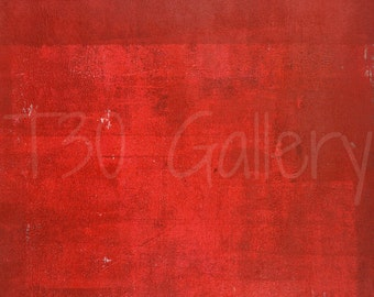 Boxcar, 2016 - Acrylic Modern Contemporary Abstract Painting Wall Decorative Free Shipping Red White 11 x 14