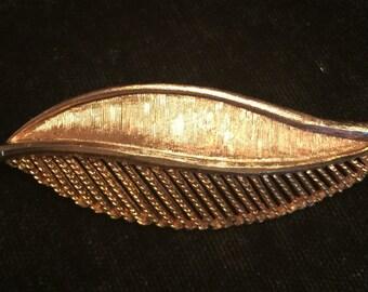 Vintage BSK Leaf Pin
