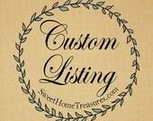Custom Listing for NenobyDesign