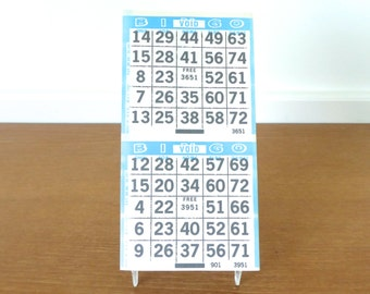 Turquoise blue bingo papers, full pad of new old stock
