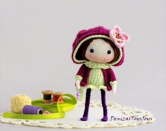 JayMee. The Doll - pdf knitting pattern. Knitted in the round.