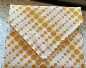 Sandwich Wrap Reusable Green Eco Friendly Children Snack Dots Cotton Designer Print Bags Pouches Snack Bags Lunch Place Mat School Supplies