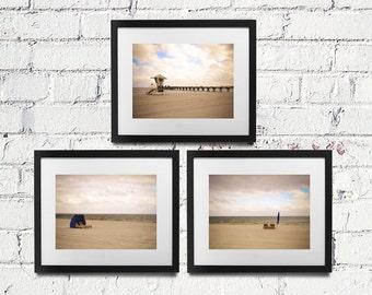 SAVE 20% - Ocean Serenity Series Set of 3 Prints - Beach Nautical Coastal Seaside Wall Art Photography - 8x10 11x14 16x20