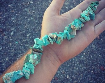 Natural Turquoise Bead Strand