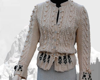 """Ladies cardigan with Austrian Inspiration """"Lake Louise"""" - the perfect companion for denim"""