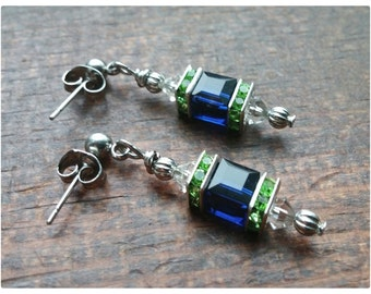 Seattle Seahawks Inspired Earrings