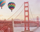 Reserved Listing for Bryna - Golden Gate Bridge with Balloons 10x10