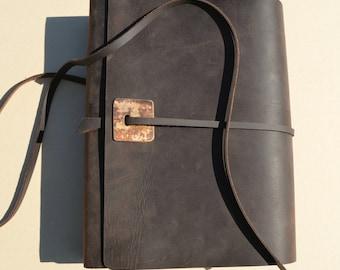 Custom Order Leather Art Journal Planner Elegant Personal Diary (530)