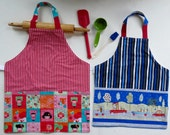 Kids apron  whit size and fabric choice