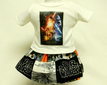 Star Wars The Force Awakens Theme Outfit  For 18 Inch Doll Like The American Girl