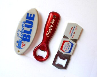 Vintage Labatts Blue Opener Smile pass it On, Molson Canadian Lager Beer, O'Keefe Ale Breweriana