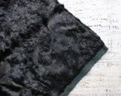 Rare to find vintage plush black vintage viscose for making teddy bear charcoal green faux fur