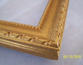 ONE 8 x 10 Made to Order Picture Frame ~ 5/8 inch ~ Ornate Design with Rope and Bead ~ Gold Mine Metallic Accent Finish