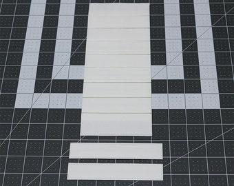 "Size 1""(12""W x 3""L) Mr. Pleater Board(Box Pleats) add perfect box pleats to fabric, fast and easy."