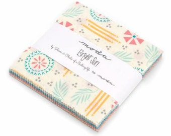 Bright Sun Charm Pack by A Quilting Life for Moda