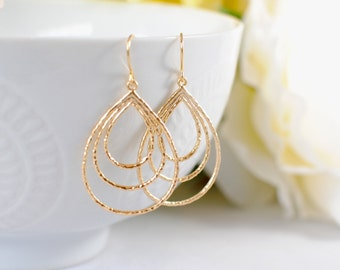 The Aria Earrings - Gold