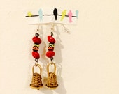 Mini Caxixi Earrings / Pair