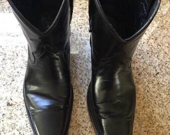 Fluevog Ruth Black Cowboy Boots M8/W10